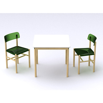 Jasper Morrison Trattoria Chair and Table
