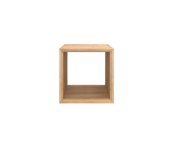 Ethnicraft Oak Cube Side Table