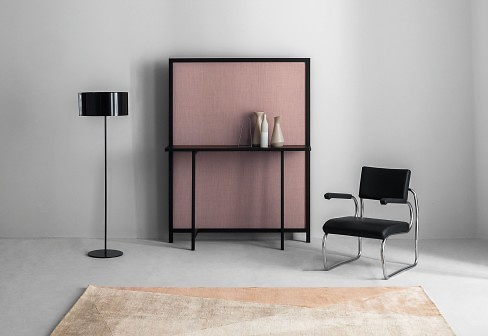 Lucidipevere Studio Shoji Screen With Consoleshelf