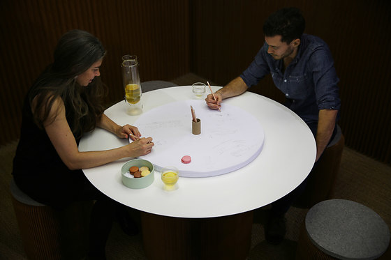 Stephanie Forsythe, Todd Macallen Cantilever Paper Table