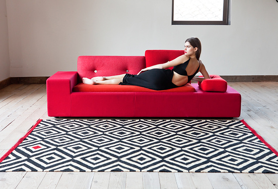 Sybilla Mélange Pouf and Rugs