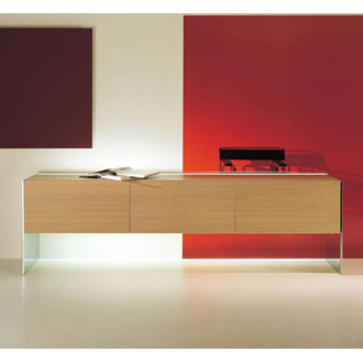 Lodovico Acerbis and Gabriele Buratti Steel Sideboard
