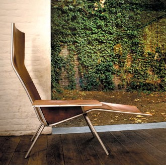 Maarten Van Severen Leather Lounge Chair 04