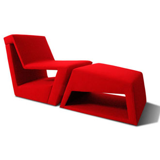 Michael Cannamela Palo Lounge Chair and Ottoman