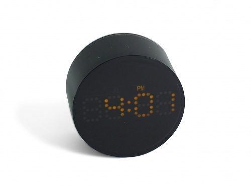 Authentics Blanc And Noir LED Alarm Clock