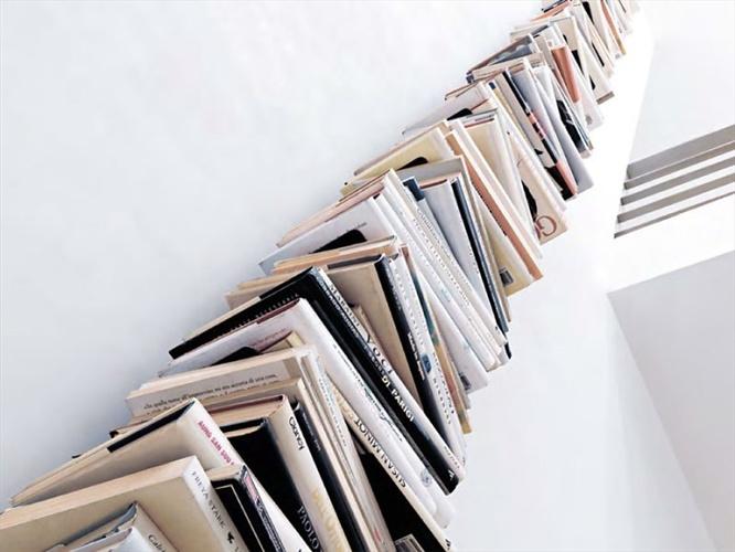 Bruno Rainaldi Ptolomeo Vertical Wall Bookcase