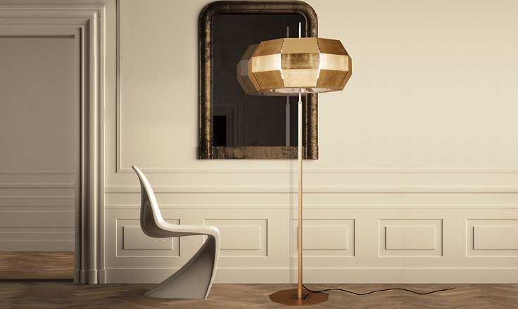 Carlo Zerbaro and Alessandro Trentin Cristal Floor Lamp