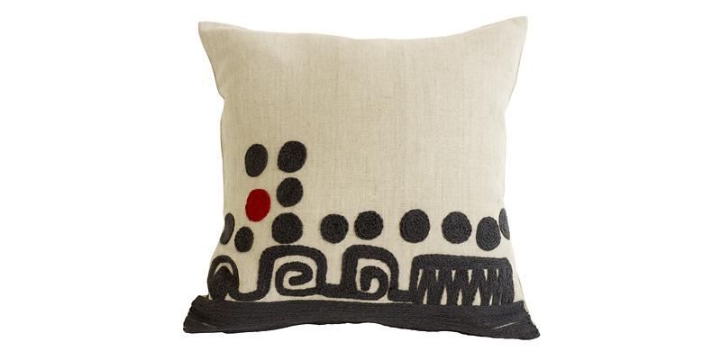 Charlene Mullen Red Spot And Twelve Cushion