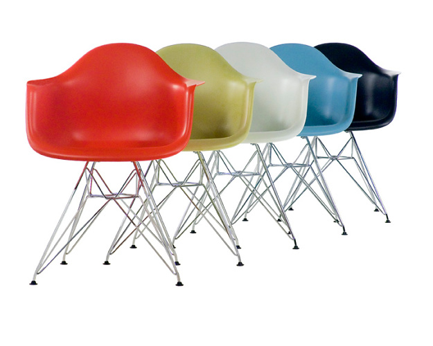 Charles Eames and Ray Eames Eames Molded Plastic Chairs