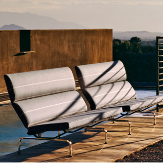 Charles Eames and Ray Eames Eames Sofa Compact