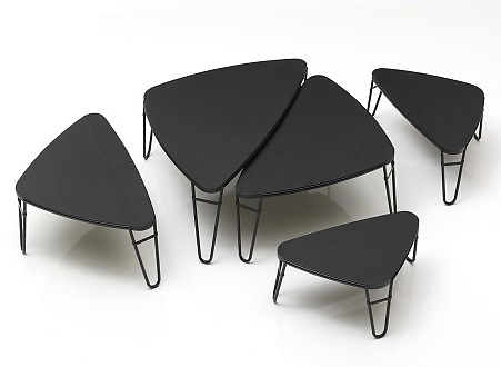 charlotte perriand petalo nesting tables. Black Bedroom Furniture Sets. Home Design Ideas