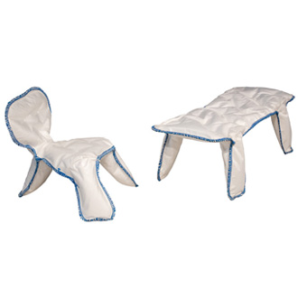 Chris Kabel Seam Chair And Bench