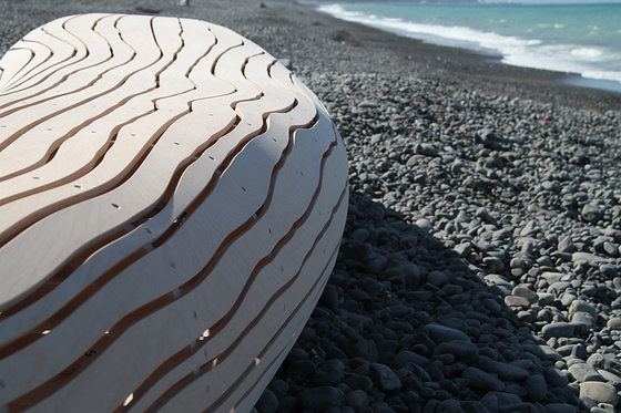 David Trubridge Driftwood Bench