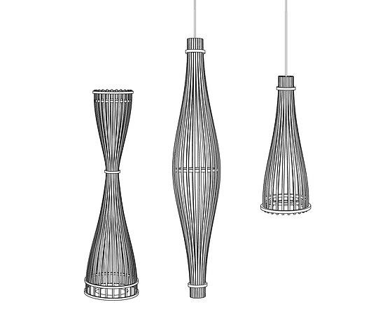 David Trubridge Reed Pendant Lamp