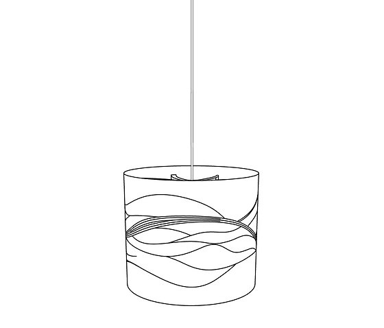 David Trubridge Sandshade Pendant Lamp