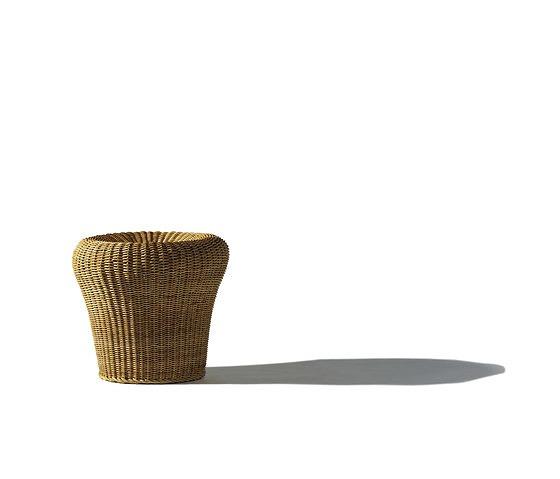 egon eiermann e 14 rattan stool. Black Bedroom Furniture Sets. Home Design Ideas