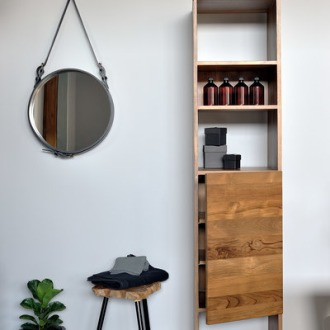 Ethnicraft Teak Bathroom Square Shelf Collection