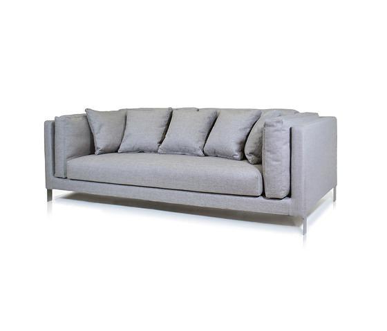 Slim Sofa Contemporary Sofa Leather Fabric 3 Seater Slim