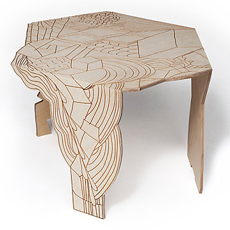 Front Burnt Doodle Table