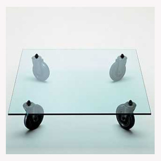 Gae Aulenti Tavolo Con Ruote Table