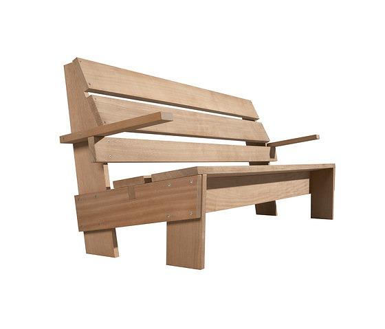 Gerrit Thomas Rietveld Hillebrandt Garden Bench
