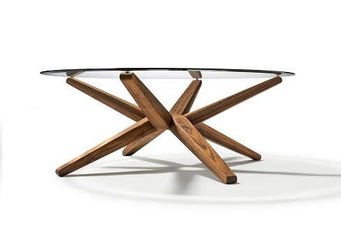 Jacob strobel stern coffee table for Table triangulaire