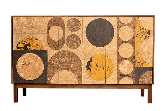 James Sanderson and Michael Iannone Cork Mosaic Sideboard