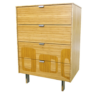 James Sanderson and Michael Iannone Green Mod: Midcentury Inlay Tall Dresser