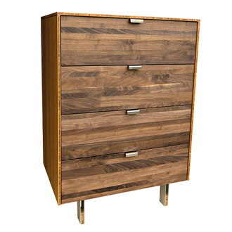 James Sanderson and Michael Iannone Green Mod: Wood Stripe Tall Dresser