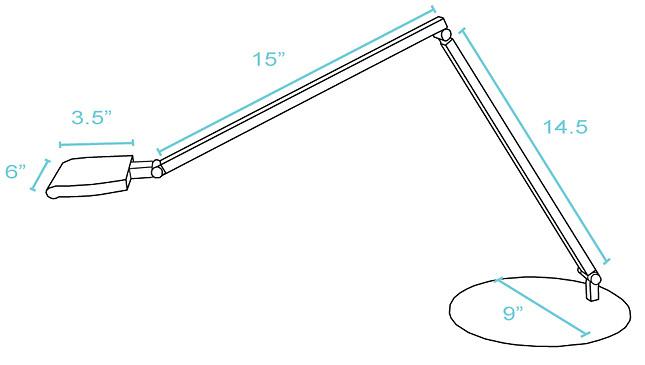 Koncept Lighting Icelight High Power LED Desk Lamp