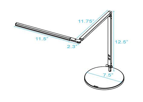 Koncept Lighting Z-bar Mini High Power LED Desk Lamp