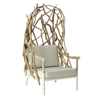 Lefebvre and Taillard Outline High-back Garden Armchair