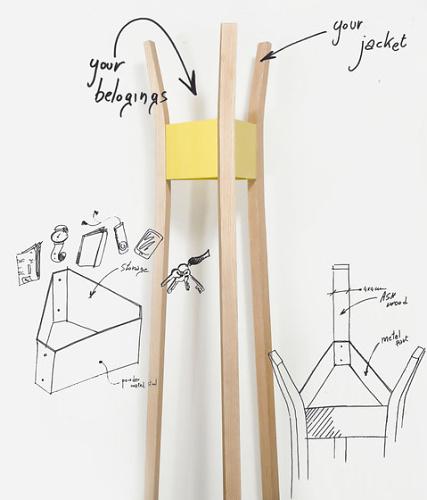 Leonardo Fortino Joe Coat Rack