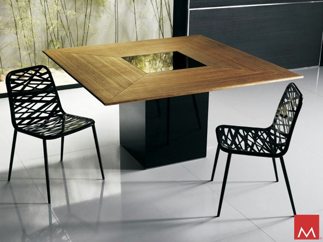 Modloft fitzroy dining table for Table salle a manger carre