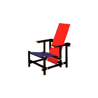 Gerrit T. Rietveld Red And Blue Chair
