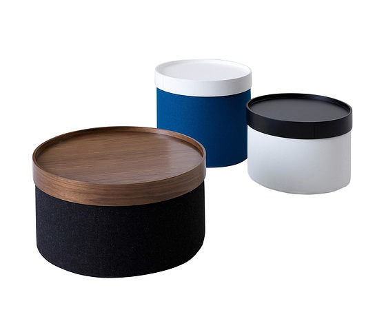 Softline Drum Pouf & Table