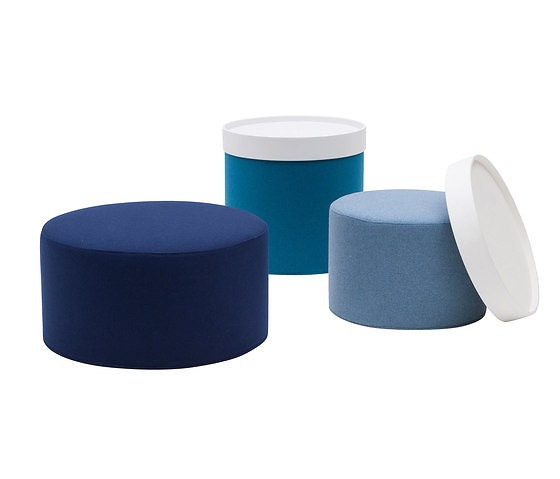 Softline Drum Pouf Amp Table