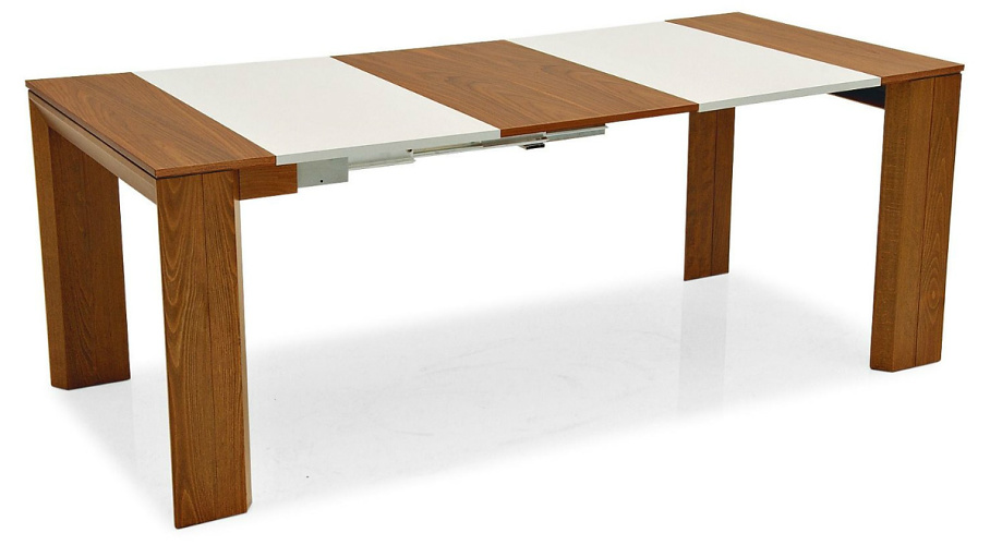 Wooden console table that can be adjusted to 4 different lengths.