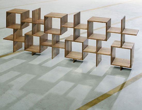 Yves Raschle and Thomas Wüthrich Enam Bookcase