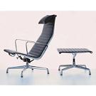 Charles and Ray Eames Aluminium Group EA 124/EA 125 Chairs